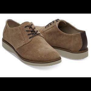 EUC Men's TOMS Preston Bark Dress Shoes